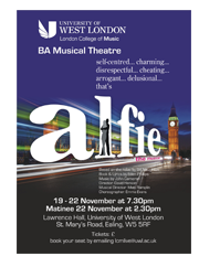 Alfie The Musical poster